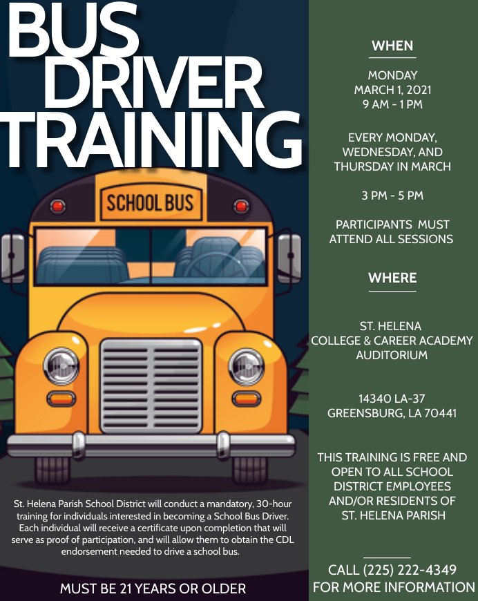 Free Bus Driver Training