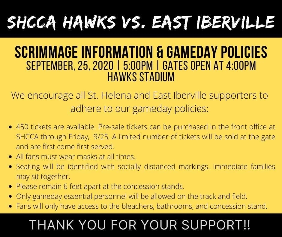 Scrimmage Information and Game Day Policies